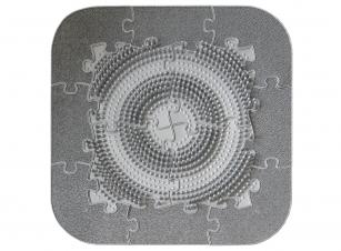 Orthopuzzle -  Massage Puzzlematten Fußmatten-Set für Office - Grau