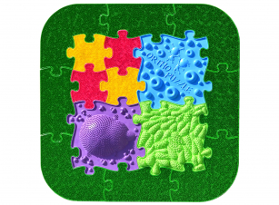Ortho-puzzle Wald-Puzzle - Set - Sensorik Strukturmatten für Kinder