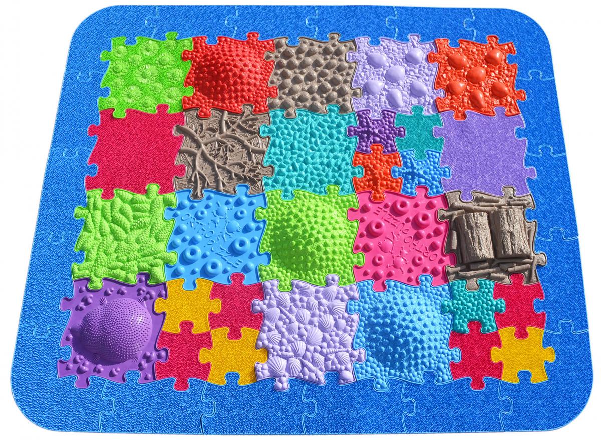 Orthopuzzle Kitas-Puzzle-Set - Sensomotorik Strukturmatten für Kinder