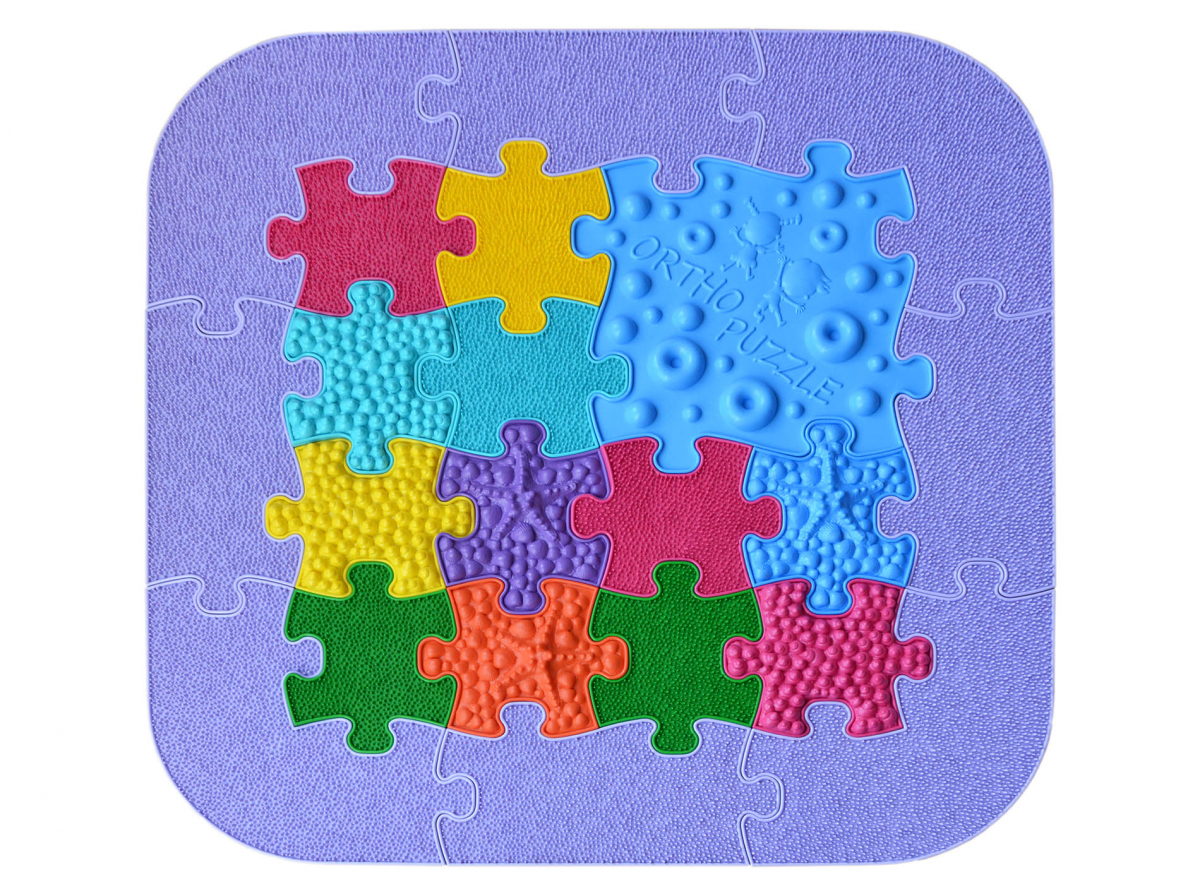 Orthopuzzle Mini-Puzzle-Set - Sensorik Matten für Babys und Kleinkinder