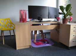 Orthopuzzle - Sensorik Massagematten Fußmatten-Set für Office - Bunt
