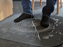 Orthopuzzle - Sensorik Massagematten Fußmatten-Set für Office - Grau