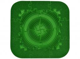 Orthopuzzle - Massage Puzzlematten Fußmatten-Set für Office - Grün