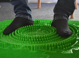 Orthopuzzle - Sensorik Massagematten Fußmatten-Set für Office - Grün