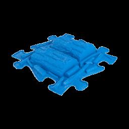 Orthopuzzle - Sensorik Matte Holzstamm mit harter Oberfläche in Blau