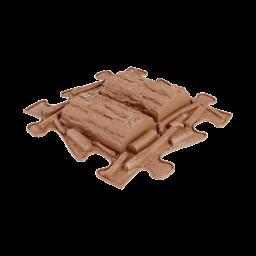 Orthopuzzle - Sensorik Matte Holzstamm mit harter Oberfläche in Brown