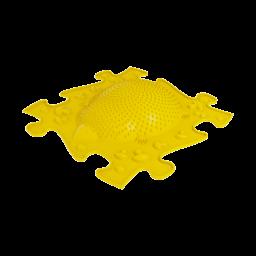 Orthopuzzle - Sensorik Matte Igel mit harter Oberfläche in Gelb