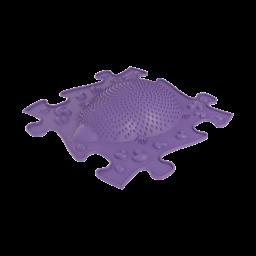 Orthopuzzle - Sensorik Matte Igel mit harter Oberfläche in Violett