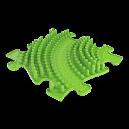 Orthopuzzle - Sensorik Matte Tornado mit harter Oberfläche in Lime