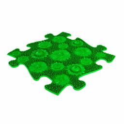 Sensorik Matte Blumenwiese mit harter Oberfläche in Grün