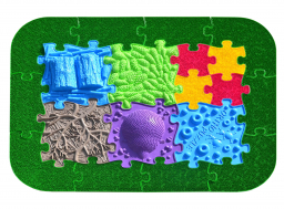 Orthopuzzle forest path puzzle set - sensory floor mats for children
