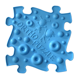 Sensorik Matte Orthopuzzle mit harter Oberfläche in Blau