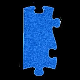 Orthopuzzle Umrandung Länge - Grass mit harter Oberfläche in Blau