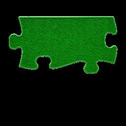Orthopuzzle Umrandung Länge - Grass mit harter Oberfläche in Grün