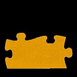 Orthopuzzle Umrandung Länge - Grass mit harter Oberfläche in Gelb