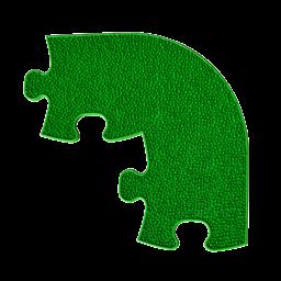 Orthopuzzle Umrandung Ecke - Grass mit harter Oberfläche in Grün