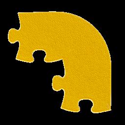 Orthopuzzle Umrandung Ecke - Grass mit harter Oberfläche in Gelb