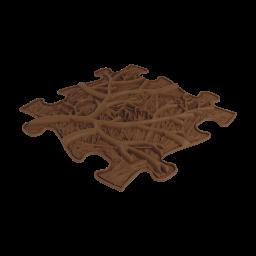 Sensorik Matte Äste mit harter Oberfläche in Braun