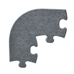 Orthopuzzle Umrandung Ecke - Grass mit harter Oberfläche in Grau